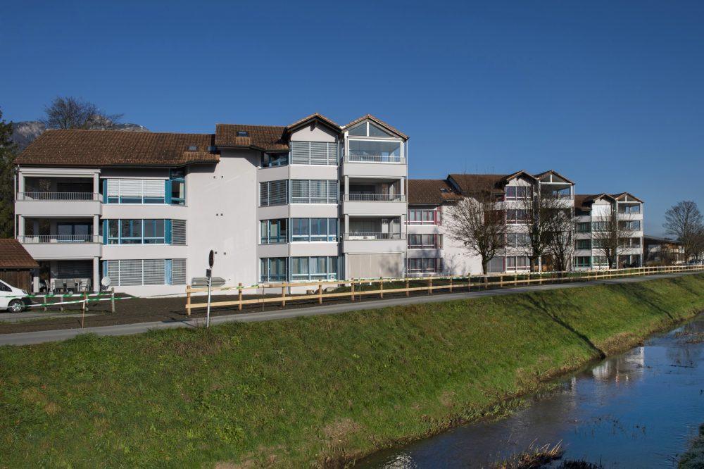 Sanierung Aussenfassade und Balkone MFH Hofstatt, Salez