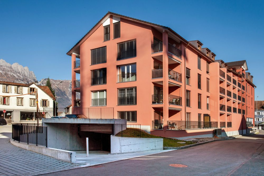 Neubau Überbauung MFH in Grabs
